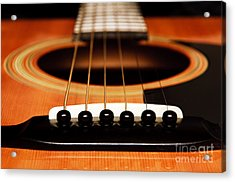 Strum Front Acrylic Print by Andee Design