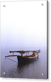 Stuck In Port Acrylic Print by Skip Willits
