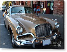 Studebaker Golden Hawk . 7d14179 Acrylic Print by Wingsdomain Art and Photography