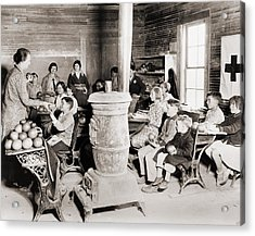 Students In A One-room School Acrylic Print by Everett