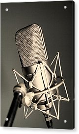 Acrylic Print featuring the photograph Studio Mic by Kim Wilson
