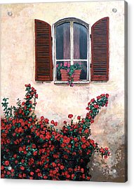 Acrylic Print featuring the painting Studio Window by Tom Roderick