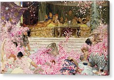 Study For The Roses Of Heliogabulus Acrylic Print by Sir Lawrence Alma-Tadema