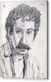Study Of Jim Croce Acrylic Print by Julie Coughlin