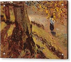 Study Of Tree Trunks Acrylic Print by John Constable