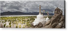 Stupas And Small Shrines Acrylic Print by Phil Borges