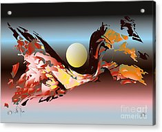 Acrylic Print featuring the digital art Substance And Space 2 by Leo Symon