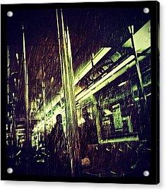 Subway Rain Acrylic Print