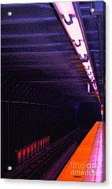 Subway Silence Acrylic Print by Gwyn Newcombe