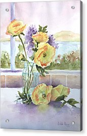 Sue's Poppies Acrylic Print by Bobbi Price