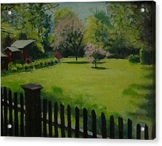 Sue's Yard Acrylic Print by Mark Haley