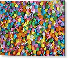 Sugar Confetti Acrylic Print by Methune Hively