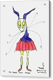 Sugar Plum Fairy Acrylic Print by Tis Art