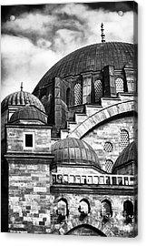 Suleymaniye Domes Acrylic Print by John Rizzuto