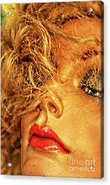 Sultry Womankin Acrylic Print by David Taylor