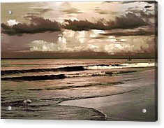 Summer Afternoon At The Beach Acrylic Print by Steven Sparks