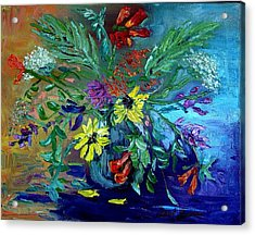Summer Bouquet Acrylic Print by Carol Berning