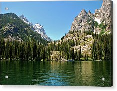 Summer Day At Jenny Lake Acrylic Print