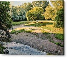 Summer Evening Along The Creek Acrylic Print