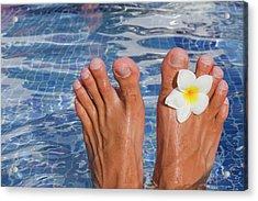 Summer Feet Acrylic Print by Alex Bramwell