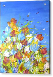 Acrylic Print featuring the painting Summer Flowers by Kathleen Pio
