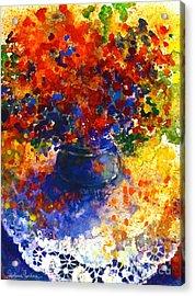 Summer Flowers Acrylic Print by Svetlana Novikova