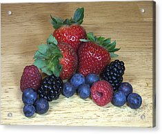 Summer Fruit Acrylic Print by Michael Waters