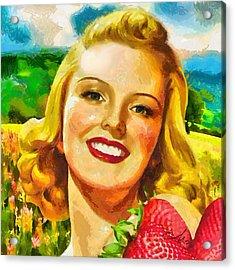 Summer Girl Acrylic Print by Mo T