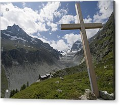 Summer In The Mountains. The Cross Acrylic Print by Axiom Photographic