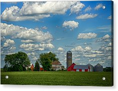 Summer Iowa Farm Acrylic Print by Bill Tiepelman