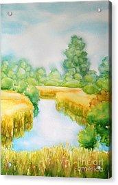 Summer Marsh Acrylic Print by Inese Poga