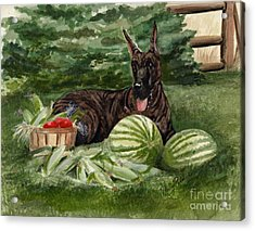 Acrylic Print featuring the painting Summer by Nancy Patterson
