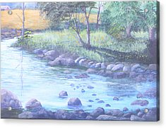 Summer River Acrylic Print by Reggie Jaggers