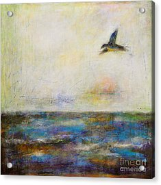 Summer Series The Fog Is Setting In Acrylic Print by Johane Amirault