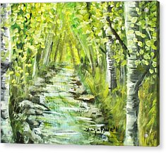 Acrylic Print featuring the painting Summer by Shana Rowe Jackson
