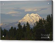 Summer Solstice - Mount Rainier Acrylic Print by Sean Griffin
