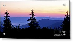 Summer Solstice Sunrise Highland Scenic Highway Acrylic Print by Thomas R Fletcher