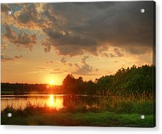 Acrylic Print featuring the photograph Summer Sunset On Empire by Mary Hershberger