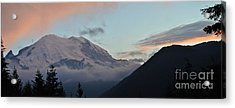 Summer Sunset On Mt. Rainier Acrylic Print
