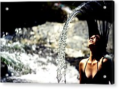 Acrylic Print featuring the photograph Summertime At The River by Emanuel Tanjala