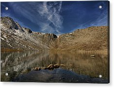Acrylic Print featuring the photograph Summit Lake In September by Stephen  Johnson