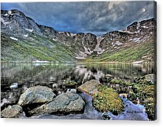 Acrylic Print featuring the photograph Summit Lake Tundra And Granite by Stephen  Johnson