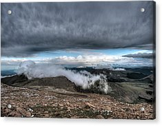 Acrylic Print featuring the photograph Summit View On Mount Evans by Stephen  Johnson