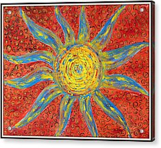 Sun Acrylic Print by Ankita Ghosh