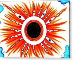 Sun Eye Acrylic Print by Alfonso  Furrer