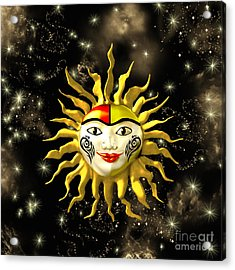 Sun Face  Acrylic Print by Methune Hively