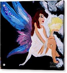 Sun Fairy Acrylic Print by Marie Bulger