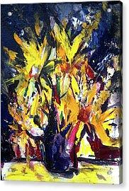 Sun Flower Night Acrylic Print