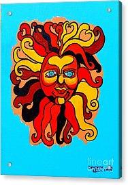 Sun God II Acrylic Print by Genevieve Esson