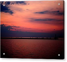 Sun Has Set Acrylic Print by Leigh Edwards